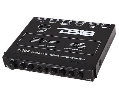 DS18 KEQ4LD KEQ4LD Car Audio 4 Band Equalizer 2-Way Crossover Line Driver Single Thumbnail 4