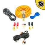 Bass Face PWK0.5 True 0 AWG Gauge 50mm Complete Amplifier Wiring Kit 5 Meter RCA