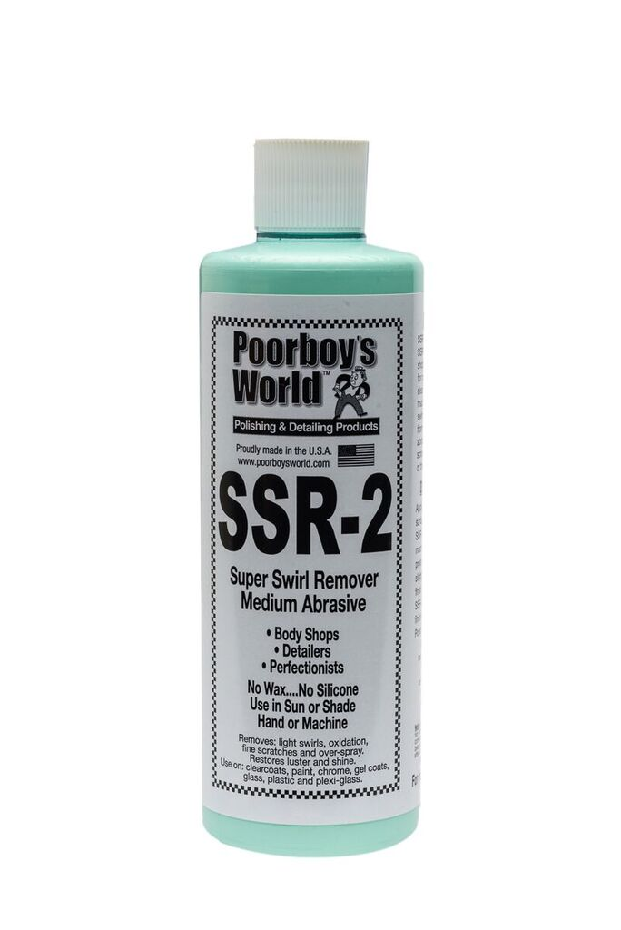 Poor Boys PB-SR216 Car Cleaning Valeting Polish Super Swirl Remover SSR 2.0 473ml