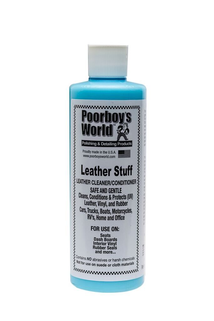 Poor Boys PB-LS16 Car Cleaning Valeting Polishing Wax Leather Stuff 473ml