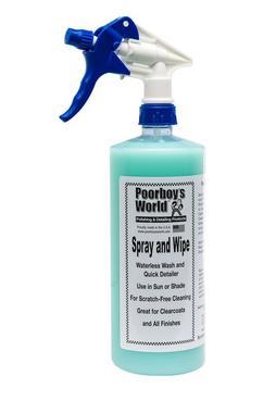 Poor Boys PB-SW32 Car Cleaning Valeting Polishing Wax Spray And Wipe 946ml Thumbnail 1