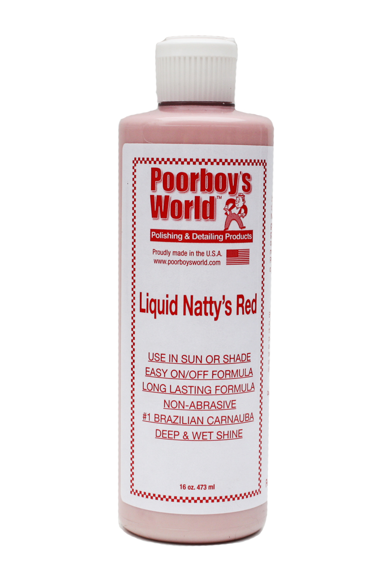 Poor Boys PB-LNR16 Car Cleaning Valeting Liquid Natty'S Red Wax 473ml