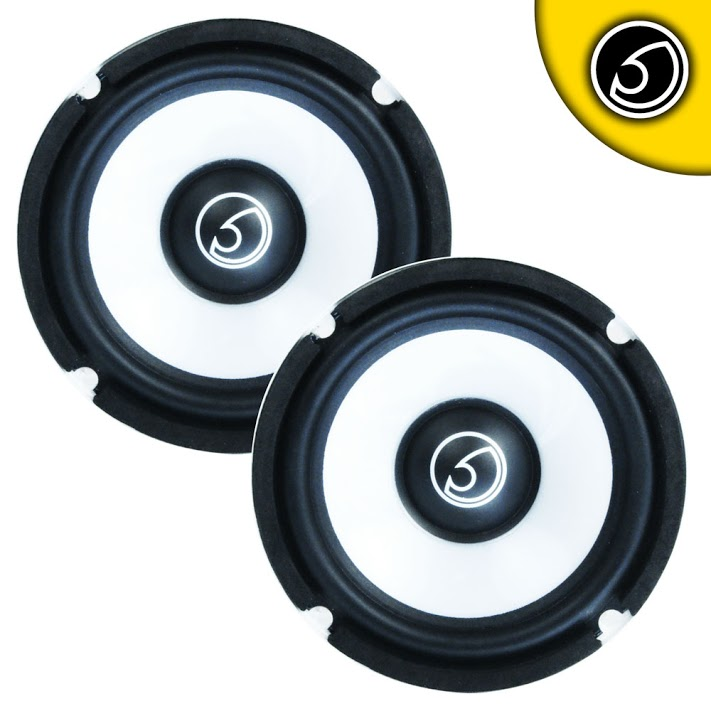 "Bassface SPL5M.1 5.25"" 13cm 400w 4Ohm Midbass Driver Car Door Speaker Pair"