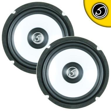 "Bassface SPL6M.3 6.5"" 16.5cm 500w 4Ohm Midbass Driver Car Door Speaker Pair Thumbnail 1"