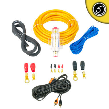 Bass Face PWK8.5 True 8 AWG Gauge 10mm Complete Amplifier Wiring Kit 5 Meter RCA Thumbnail 1