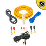 Bassface PWK4.5 True 4 AWG Gauge 25mm Complete Amplifier Wiring Kit 5 Meter RCA