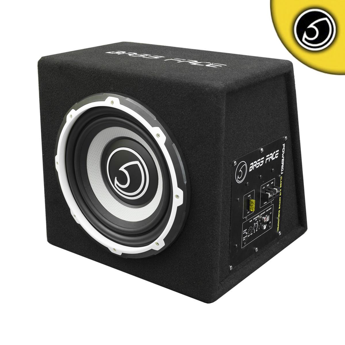 "Bassface POWER10.1 1000w 10"" Inch Active Car Sub Amp Amplifier Powered Bass Box"