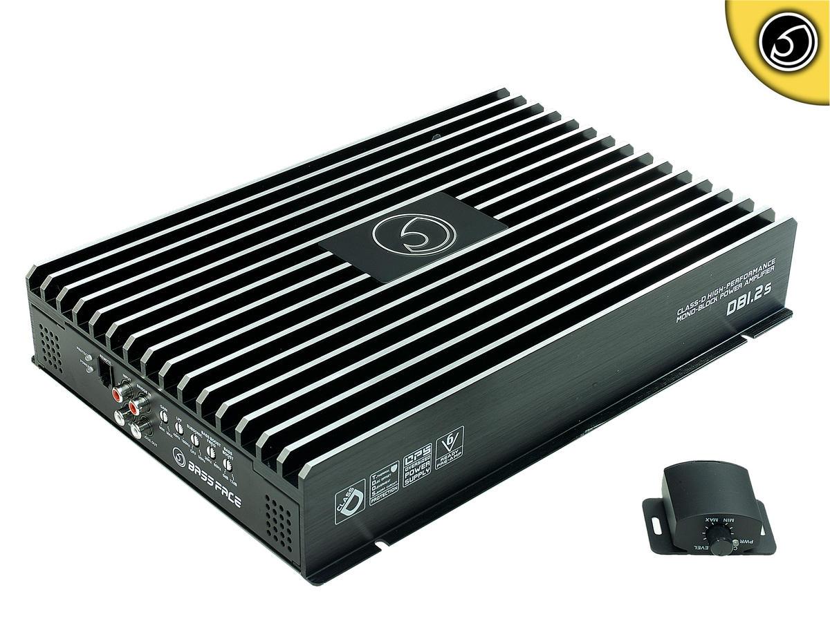 Bassface DB1.2s 3000w 1Ohm Class D Monoblock Car Woofer Amplifier Mono Sub Amp