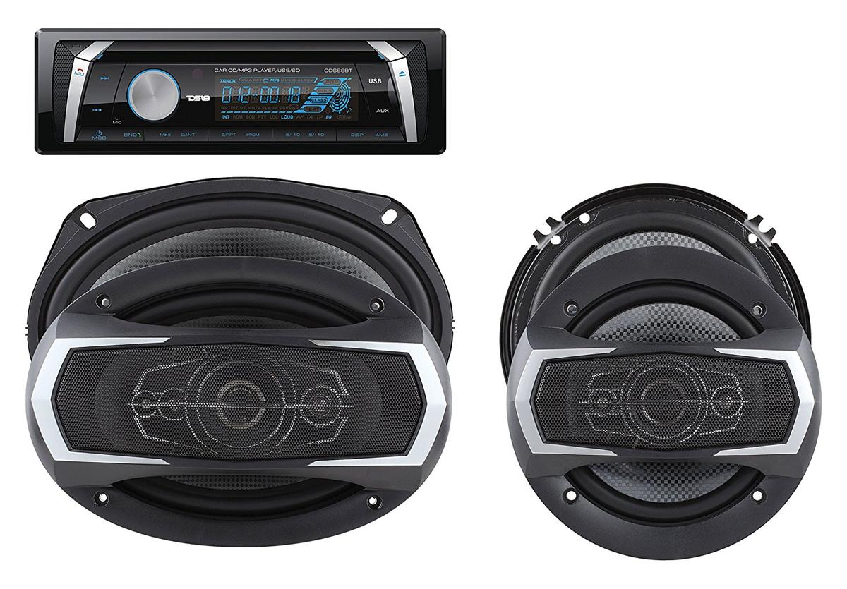 "DS18 PKG-36D Marine Stereo CD DVD Radio MP3 6"" 6x9"" Speakers 460 Watts Kit"