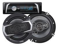 "DS18 PKG-18D Complete Marine Stereo CD DVD Radio MP3 6"" Speakers 200 Watts Kit"