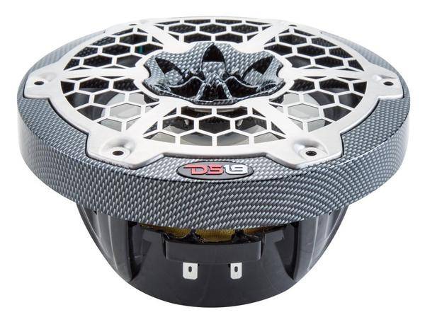 "DS18 CF65B High End Marine 6.5"" 375 Watts Carbon Fibre Coaxial Speakers Pair Thumbnail 2"