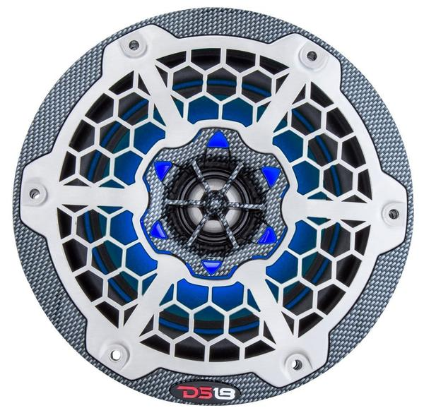 "DS18 CF65B High End Marine 6.5"" 375 Watts Carbon Fibre Coaxial Speakers Pair Thumbnail 4"