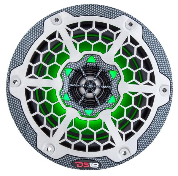 "DS18 CF65B High End Marine 6.5"" 375 Watts Carbon Fibre Coaxial Speakers Pair Thumbnail 5"