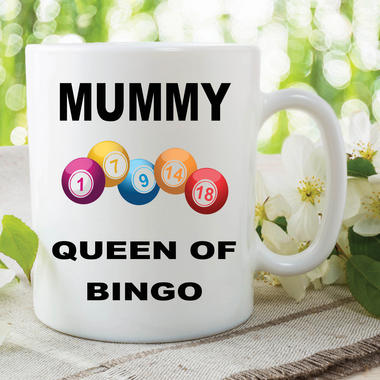 Funny Novelty Mugs Joke Adult Humour Mummy Queen Bingo Mothers Day Cup WSDMUG607 Thumbnail 2