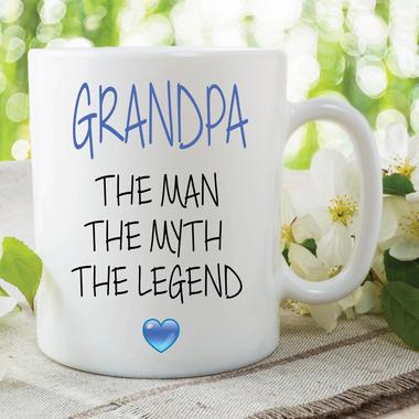 Novelty Grandpa Mug The Man The Myth The Legend Gift Fathers Day Cup WSDMUG639 Thumbnail 2