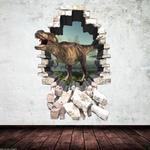 3D Dinosaur Full Colour T-Rex Wall Art Sticker Decal Mural Transfer Graphic 2