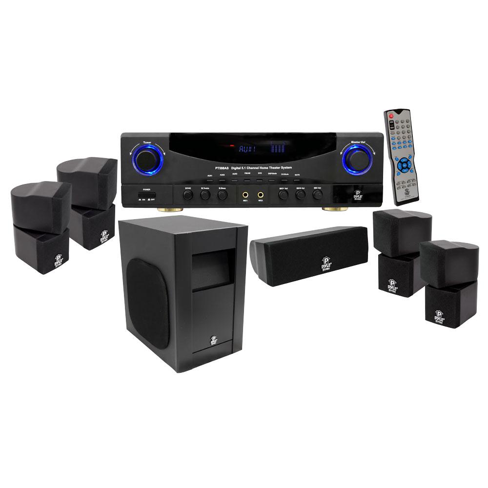 new 5 1 home theatre cinema surround sound speakers. Black Bedroom Furniture Sets. Home Design Ideas