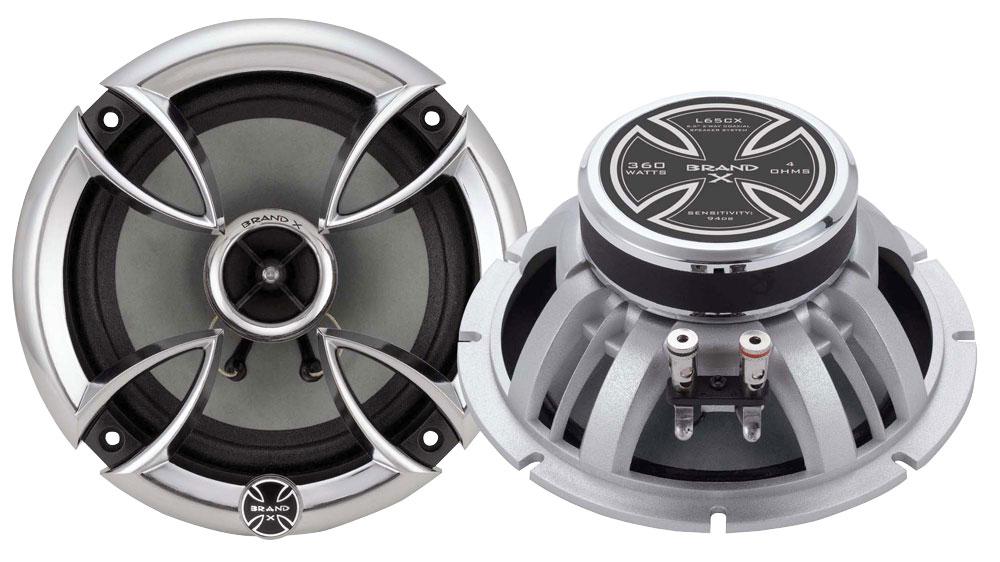 """Brand X High Power 6.5"""" Coaxial Full Range 2 Way Car Door Shelf Speakers"""