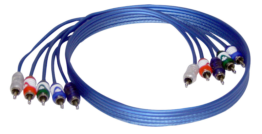 Brand-X XLCOMP3HD 3ft 1m HD 24K Gold Plated 5 Terminal Component RCA Phono Cable