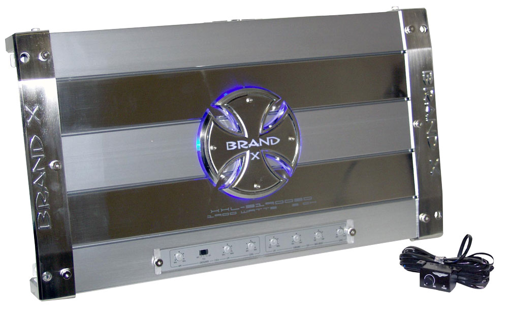 Brand X High Power 3 Channel 1900w Car Van 12v Speakers Amplifier Bridgeable