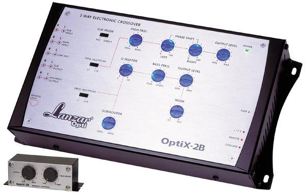 Lanzar OPTI 2 Way 7v Car Amplifier Line Driver Active Crossover Bass Boost Thumbnail 1