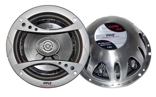 "Pyle PLCH62 6.5"" 165mm 17cm 480w Car Door Shelf Coaxial Speakers Pair Thumbnail 1"