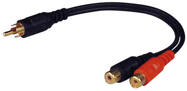 Pyramid RY6 RCA Phono Audio Interconnect Y Splitter Adapter 1 Male - 2 Female Thumbnail 1