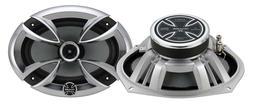 """Brand X High Power 6x9"""" Coaxial Full Range 2 Way Car Door Shelf Speakers"""