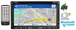 Lanzar Double-DIN Touchscreen Car Stereo DVD/MP4/MP3/CD Bluetooth GPS