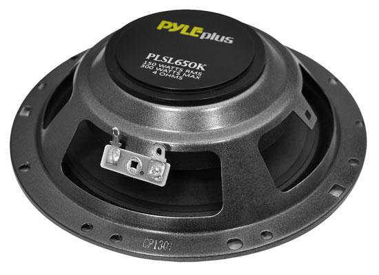 pyle plsl650k 6 5 300w slim mount component kit set car door pyle plsl650k 6 5 300w slim mount component kit set car door speakers kit set