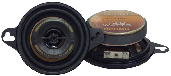 "Pyramid 3.5"" 8cm 80mm 240w Coaxial Two Way Car Door Dash Speakers Mk2 Golf Etc"