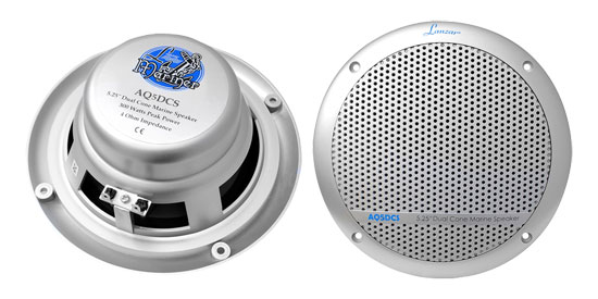 "Lanzar WaterProof Outdoor Boat Patio Marine 5.25"" In Wall Cabin Deck Speakers"