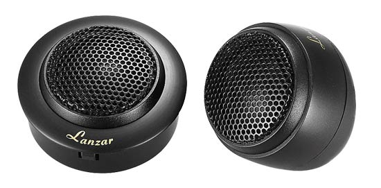 "Lanzar DCT 1"" Silk Dome Neodymium Flush, Surface or Angle Mount Tweeter"