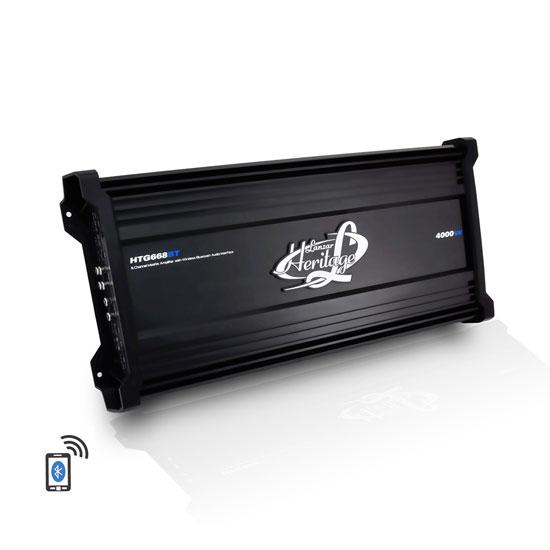 Lanzar HTG668BT Heritage Series 4000 Watt 6-Channel Mosfet Amplifier with Wireless Bluetooth Audio Interface