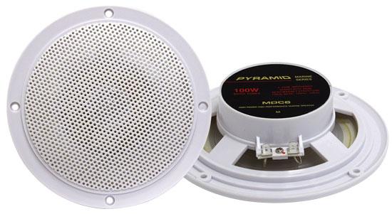 "Pyramid MDC6 5.25"" Marine 100w Dual Cone WaterProof Boat Patio Stereo Speakers"