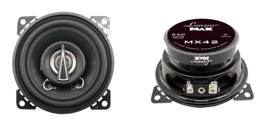 "Lanzar 4"" 10cm 100mm 240w Pair Of Car Door Shelf Two Way Coaxial Speakers NEW"