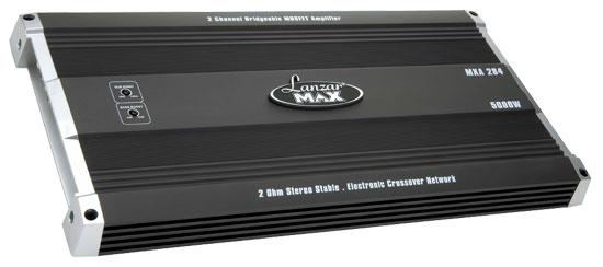Lanzar Max 2 Ch Two Channel Stereo 5000w Bridgeable Car Speaker Amplifier Amp