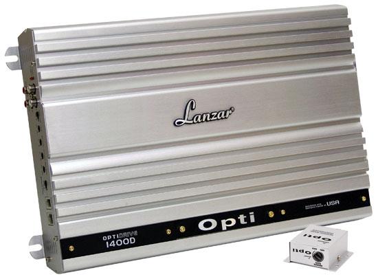 Lanzar OPTI 1000w RMS 1 Ohm Mono D Class MonoBlock Subwoofer Sub Amp Amplifier