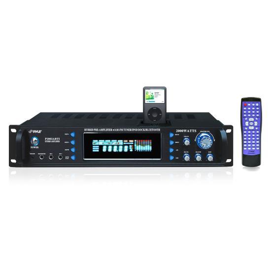 Pyle P2002ABTI Pyle Pro 2000w Receiver Bluetooth Ipod Stero Hi-Fi Amp Amplifier