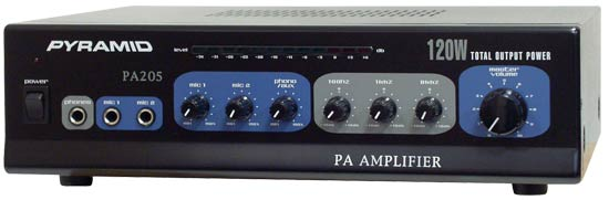 Pyramid PA205 Hi-fi Stereo Amp Amplifier With 2 Microphone Mic Inputs AUX in