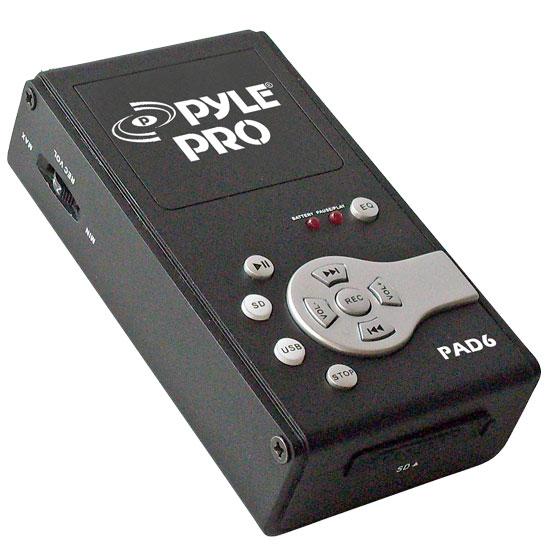 Pyle PAD6 USB Audio Interface & Analog Sound Recording Recorder SD Portable