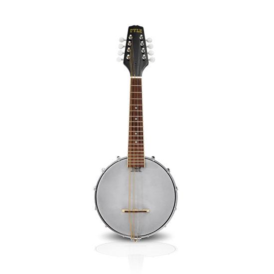 PYLE PBJ20 8-String Mandolin-Banjo Hybrid with White Jade Tuner Pegs, Rosewood Fretboard, 23'' Total Length