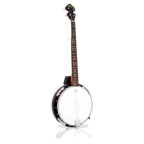 Pyle PBJ60 5 String Banjo w/ Chrome Plated Hardware Rosewood & Mohogany