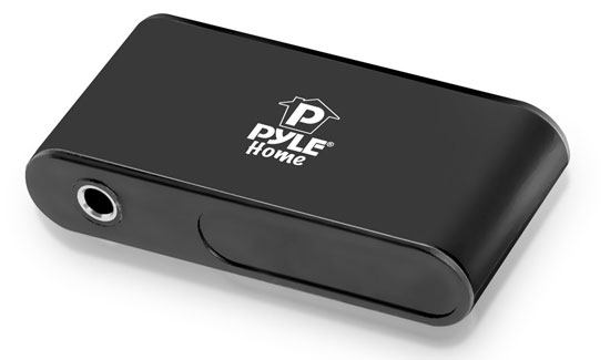 Pyle PBTR30 Bluetooth Receiver Audio Built-in Microphone Call Answering A2DP