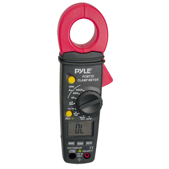 Pyle-Meters PCMT20 Digital AC DC Auto-Ranging Clamp Meter Multimeter