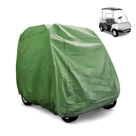 PyleSports PCVGFCT60 Armor Shield Golf Cart Storage Cover 2 Passenger Olive