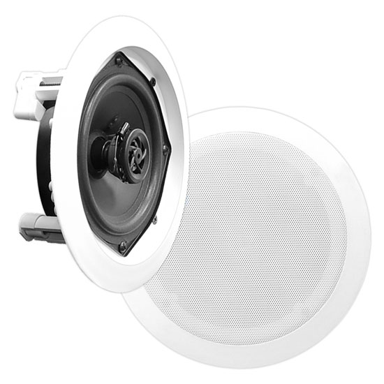 Pyle-Home PDIC51RD 5.25'' Two-Way In-Ceiling Wall Fluch Mount Speaker System