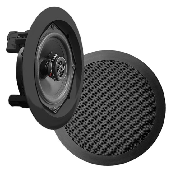 "Pyle Home PDIC51RDBK 5.25"" 2-Way In-Ceiling In-Wall Built-In Speaker System Black"