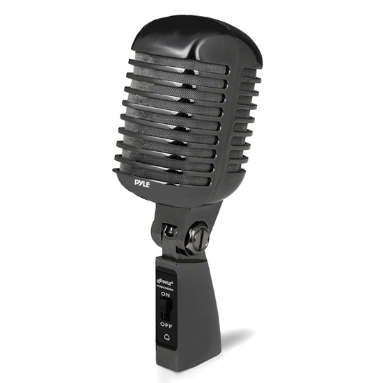 Pyle PDMICR68BK Classic Retro Metal Vintage Style Dynamic Vocal Microphone