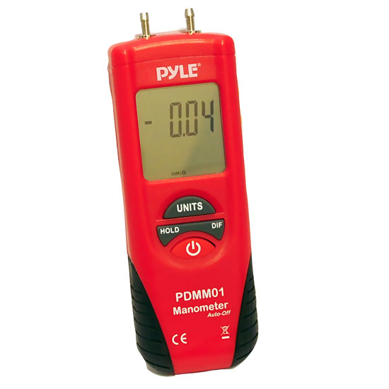 Pyle-METERS PDMM01 Digital Manometer with 11 Units of Measure Pressure